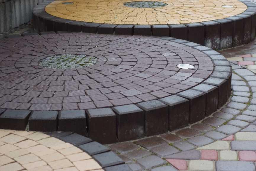 Тротуарна плитка Віденський камінь дизаайн фото