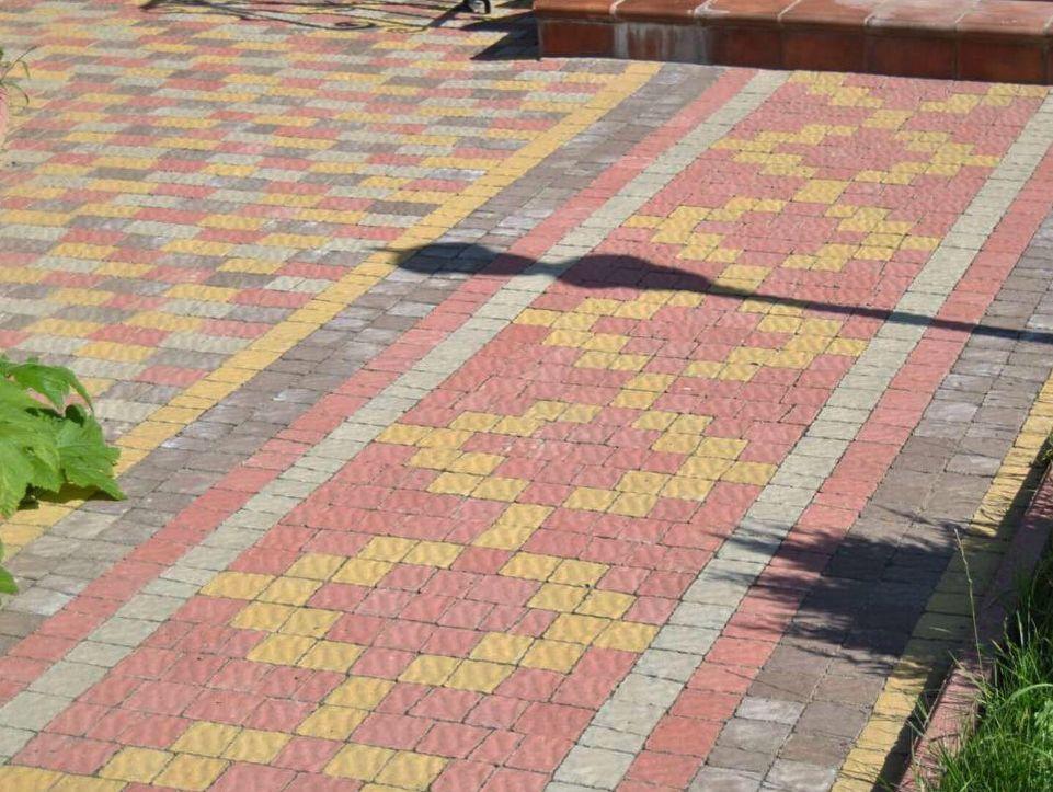 Тротуарная плитка венский камень фото